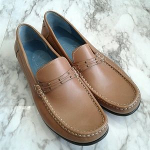 Cole Haan Studden Leather Loafers Like New Camel